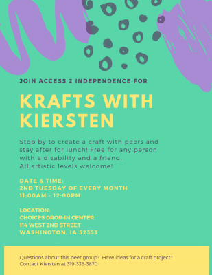 Krafts with Kiersten flyer