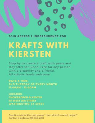 Krafts with Kiersten flyer