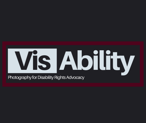 VisAbility logo with black background